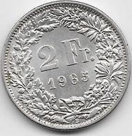 Suisse - 2 Francs - 1965 - Argent - Suisse
