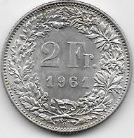 Suisse - 2 Francs - 1961 - Argent - Switzerland