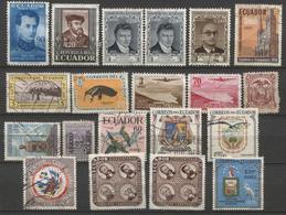 20 Zegels Restant Verzameling - Zie Scan  / 20 Timbres Restant D'une Collection - Dubbels - Equateur