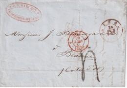 BELGIQUE 1852 LETTRE DE LIEGE POUR BEAUNE - Andere