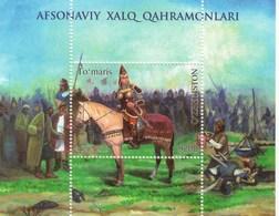 Uzbekistan 2019 Queen Tomyris History Horse SS MNH - Horses