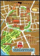 D3276 - Neubrandenburg Stadtplan Stadtkarte - Scheuner - Bild Und Heimat Reichenbach - Neubrandenburg