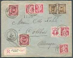 Belle Lettre Recommandée De BRUXELLES 1 Le 13-III-1933 Vers Cottbus (DE) Avec Affr. KEPI CERES PUB à 4Fr50 - 15078 - Advertising