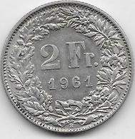Suisse - 2 Francs - 1961 - Argent - Suisse