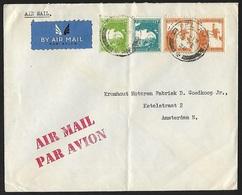 1927 - PALESTINE - Cover + SG 90/91+93 + TEL AVIV - Palestine