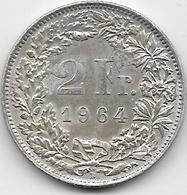 Suisse - 2 Francs - 1964 - Argent - Suisse