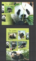 TG408 2014 TOGO TOGOLAISE FAUNA ANIMALS BEARS PANDAS KB+BL MNH - Bears