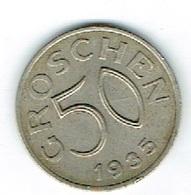 Austrie 50 Groschen 1935 - Oesterreich