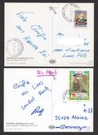 Laos 2014 Wrong Value Overprint Upside Down Mi 2258 / 61 On Postcard - Laos