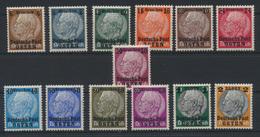 Besetzung Generalgouvernement Deutsch Post Osten 1-13 Kat.-Wert 36,00 - Besetzungen 1938-45