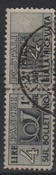 1946-51 Pacchi Postali Fil. Ruota 4 L. US - 1946-60: Usati