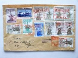 ESPAÑA - ESPAGNE - SPANIEN / 1930, R-cover, SEVILLA > GLARUS / SUIZA - SUISSE (dim: Ca.23,5cm X 15cm) / Cinderella At Ba - Briefe U. Dokumente