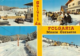 Cartolina Folgaria Monte Cornetto Vedute 1971 - Trento