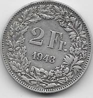Suisse - 2 Francs - 1943 - Argent - Suisse
