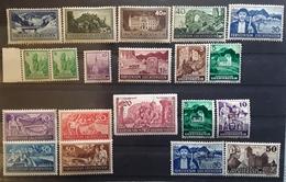 LIECHTENSTEIN, 1935 - 1937, Lot 20 Timbres Dont Serie Complète SERVICE ,bonnes Valeurs ,tous Neufs ** MNH Cote 142 Euros - Ongebruikt