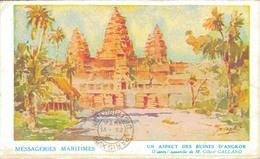 MESSAGERIES MARITIMES / UN ASPECT DES RUINES D'ANGKOR - Cambodja