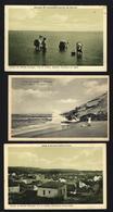 Conjunto 3 Postais Antigos CALDAS DA RAINHA Edição Fernando Daniel De Sousa. Set 3 Old Postcards LEIRIA / PORTUGAL - Leiria