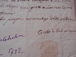 Attestation Et Célébration De Messe Pièce Signée Caroley De Paulys 1792 Beau Sceau - Religion & Esotericism