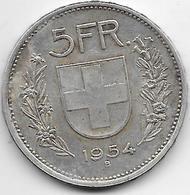 Suisse - 5 Francs - 1954 - Argent - Suisse