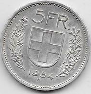 Suisse - 5 Francs - 1954 - Argent - Switzerland