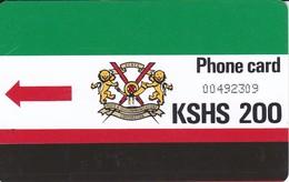 TARJETA DE KENIA DE KSHS 200 ESCUDO Y BANDERA - Kenya