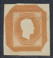 Essai - Proposition De J. Delpierre (Type III) Effigie De Profil à Droite Gravure Achevée 40ctm Bistre / Orange STES0875 - Proofs & Reprints
