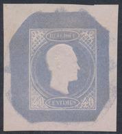 Essai - Proposition De J. Delpierre (Type III) Effigie De Profil à Droite Gravure Achevée 40ctm Bleu STES0869 - Proofs & Reprints