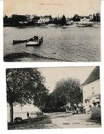Saône Et Loire ORMES Le Port  2 Cartes (Marceau Aubergiste) - France
