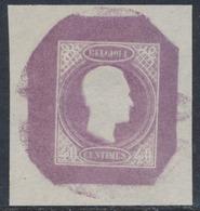 Essai - Proposition De J. Delpierre (Type III) Effigie De Profil à Droite Gravure Achevée 40ctm Violet STES0873 - Probe- Und Nachdrucke