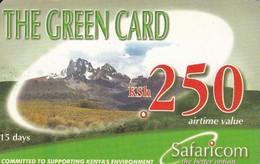 TARJETA DE KENIA DE GREEN CARD DE KSH 250 PAISAJE DATE 30/06/2003 - Kenya