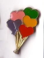 RR30 Pin's CŒUR HEART  J'aime MONTGOLFIÈRE Balloon CŒURS Achat Immédiat - Fesselballons