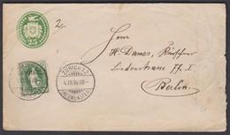 STEHENDE HELVETIA Nr. 67 C ODER D / 1894 / AUF 25 RP TUEBLI-BRIEF / ZUERICH - BERLIN - 1882-1906 Wappen, Stehende Helvetia & UPU
