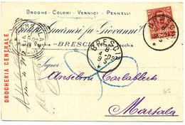 1902 BRESCIA 3 CARTOLINE PUBBLCITARIE - 1900-44 Victor Emmanuel III