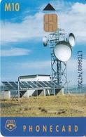 TARJETA DE LESOTO DE UNA ANTENA PARABOLICA PARA SATELITES  (SATELLITE) - Lesoto
