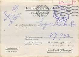 LETTRE PRISONNIER DE GUERRE STALAG IV A  KRIEGSGEFANGENENPOST  1939 -1945 - Marcophilie (Lettres)
