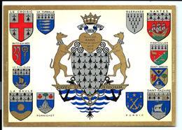 Côte D'Amour - SAINT-NAZAIRE - SAINT-BREVIN - PREFAILLES - PORNIC Etc - Carte Postale BLASON Duchesse ANNE - France