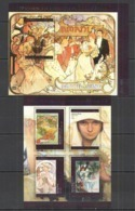 TG462 2014 TOGO TOGOLAISE ART PAINTINGS GREAT PAINTERS MUCHA !!GOLD TEXT KB+BL MNH - Other