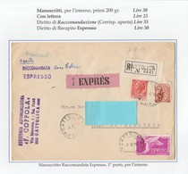 St.Post.568 - REPUBBLICA 1956 -  Manoscritti Aperta Racc.Ex. Da Cattolica A Novafeltria 6.6.56 - 6. 1946-.. Republik