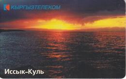 TARJETA DE KIRGUISTAN DE 50 UNITS DE UN LAGO - PUESTA DE SOL - SUNSET - Kirguistán