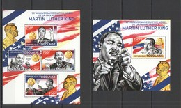 TG484 2014 TOGO TOGOLAISE FAMOUS PEOPLE NOBEL PEACE PRIZE MARTIN LUTHER KING KB+BL MNH - Martin Luther King