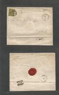 GERMAN STATES-SAXONY. 1860 (11 Jan) Leipzig - Osnabruck (12 Jan) Via Magderburg. Fkd Env 3gr Black / Yellow Tied Grill.. - Unclassified