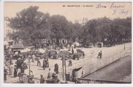 50 GRANVILLE Le Marché ,circulée En 1903 - Granville