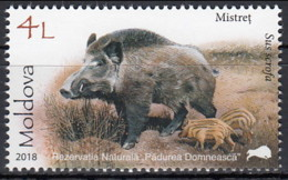 Moldova 2018 (MNH) (Mi 1039) - Wild Boar (Sus Scrofa) - Wild