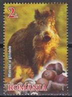 Romania 2014 (MNH) - Mi 6862A - Wild Boar (Sus Scrofa), Acorns - Wild