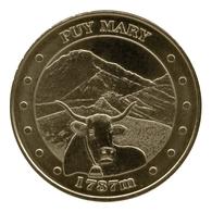Monnaie De Paris , 2011 , Le Claux , Puy Mary , 1787m , Rouge De Salers - Monnaie De Paris