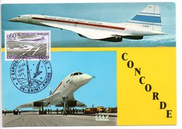 Carte  /Exposition Cosmos / Concorde / Saint André / 27 Et 28-4-1974 - Cartoline Maximum