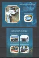 TG511 2014 TOGO TOGOLAISE TRANSPORT ELECTRIC TRANSPORT CARS AVIATION SHIPS KB+BL MNH - Cars