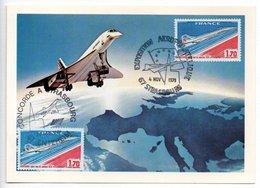 Carte  / Exposition Aérophilatélique  / Concorde / Strasbourg / 4-11-1979 - Maximum Cards