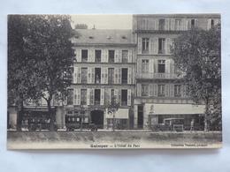 QUIMPER ( 29 ) L'HOTEL DU PARC CARTE REPONSE POUR UNE RESERVATION A L'HOTEL - Quimper