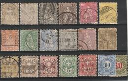 Suisse - Lot 19 Timbres - 1862-1881 Helvetia Assise (dentelés)